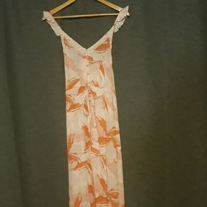 NBW Roxy peach and beige maxi dress.